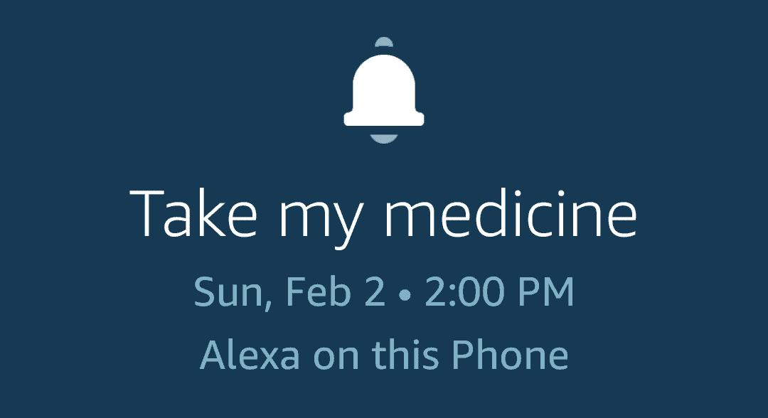 alexa reminder medicine